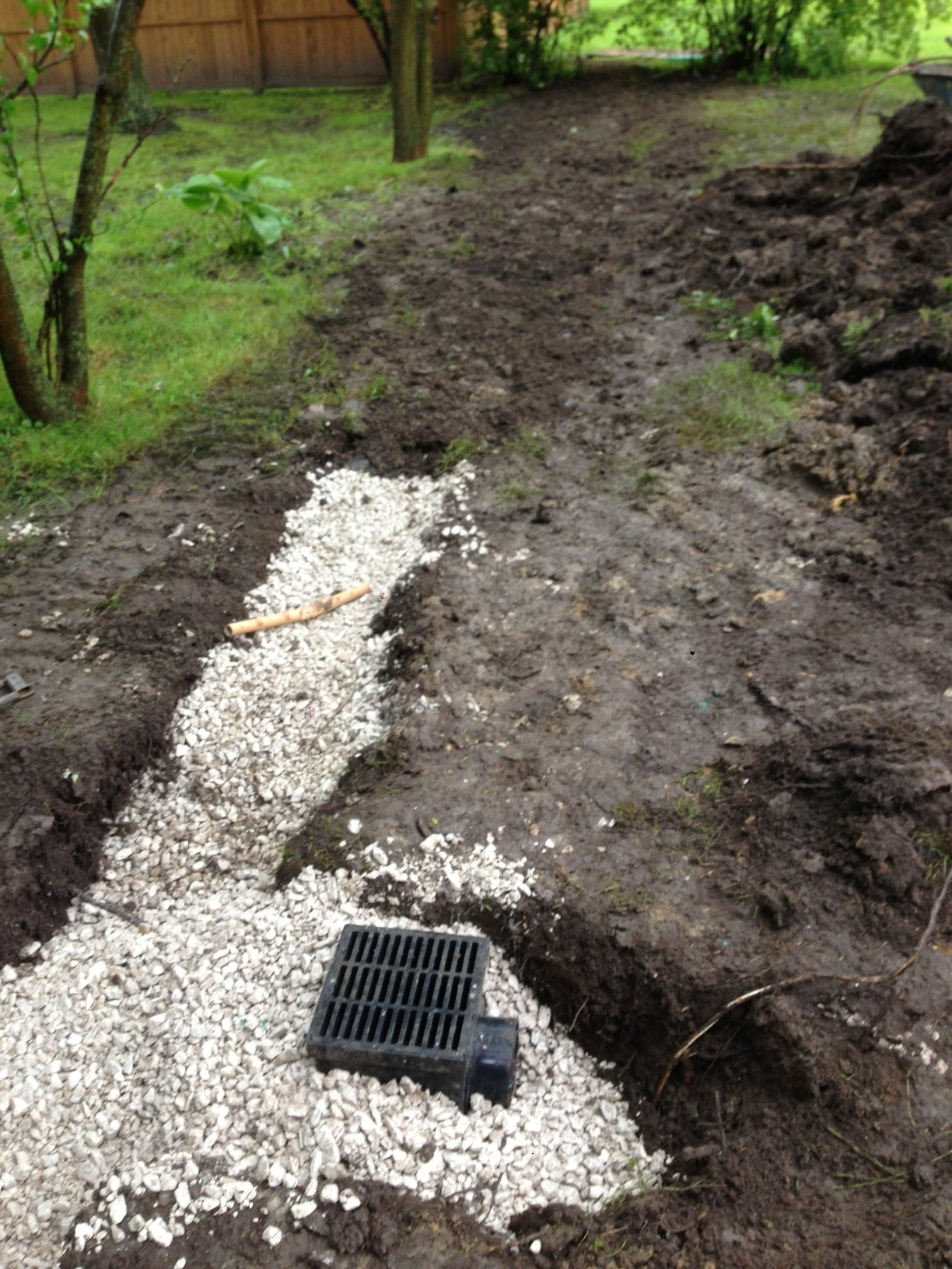 bruno and sons contractors inc yard drainage